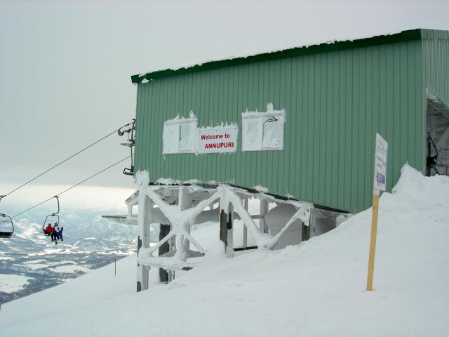 Frozen lift on Annupuri Mountain
