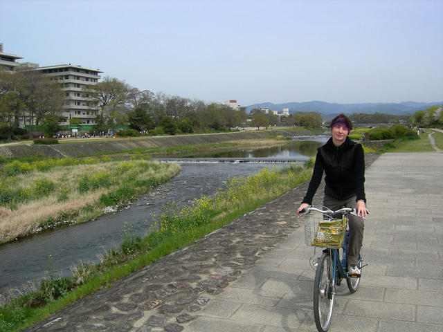 Bike excursion next to Kamo River